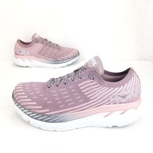 HOKA ONE ONE CLIFTON 5 KNIT RUNNING SHOES